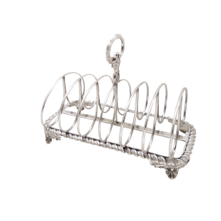 Large Antique William IV Sterling Silver Toast Rack 1835