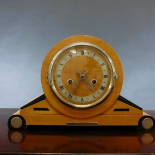Satinwood Art Deco Mantel Clock
