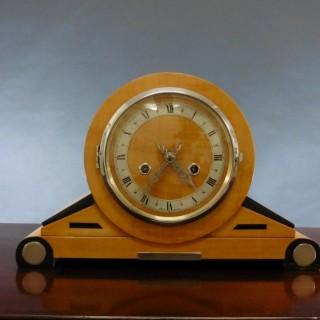 Satinwood Art Deco Mantel Clock