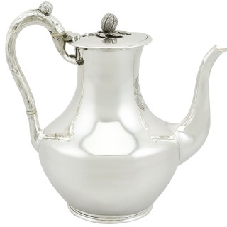 Sterling Silver Coffee Pot - Antique Victorian (1851)