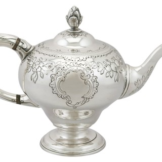 Scottish Sterling Silver Teapot - Antique George III (1771)
