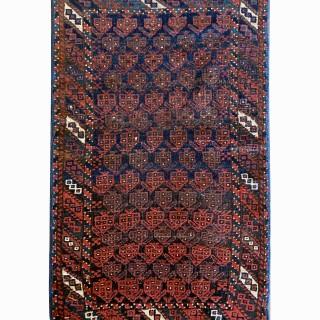Small Antique Persian Balouch Rug- 50x82cm