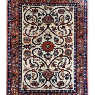 Antique Handmade Persian Wool Isfahan Rug -115x147cm