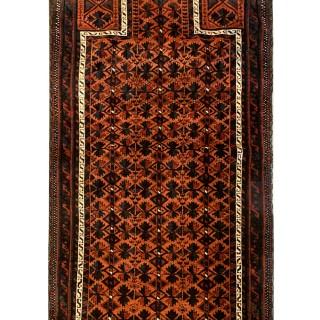 Antique Persian Balouch Rug, Handmade Mihrab Rug- 85x166cm