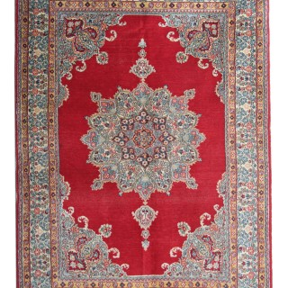 Handwoven Antique Persian Wool Kerman Rug- 124x180cm