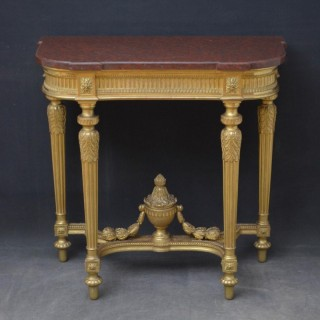 Victorian Giltwood Console Table with Jardinière
