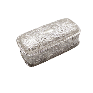 Antique Victorian Sterling Silver Trinket Box 1891