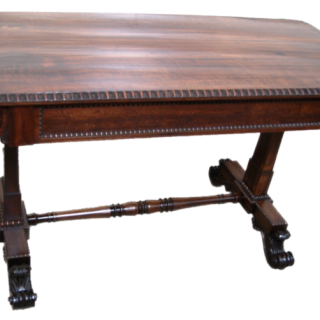 A  Very Fine,19th Cent English. Regency Period, Rosewood Writing Table in the Manner of Gillows-Lancaster