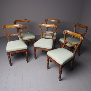 Set of 6 Antique George IV Mahogany Dining Chairs