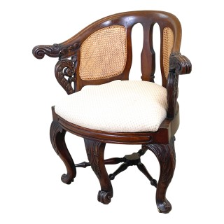 19th Century Mahogany Bürgermeister Desk Chair