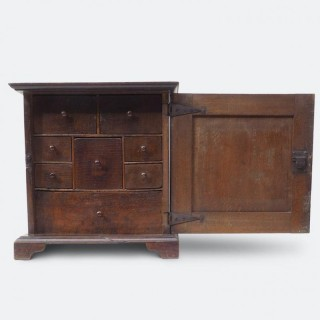 Early George I Oak Spice Cupboard, Circa 1715
