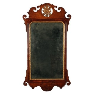 George II Walnut Wall Mirror