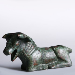 Archaic Greek Brone Statuette of a Bull