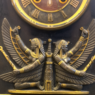 EXQUISITE EGYPTIAN REVIVAL CLOCK, FRANCE, 19TH CENTURY