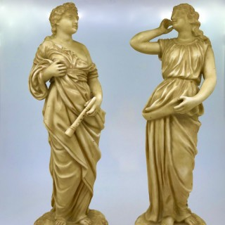 Pair of Robinson and Leadbeater Figures