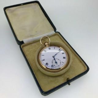 9ct Gold Man's Pocket Watch