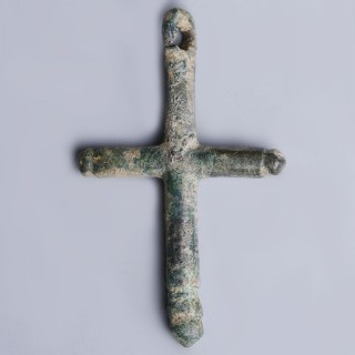 Roman Bronze Cross Pendant
