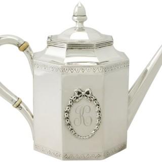 American Silver Teapot - Antique Circa 1815