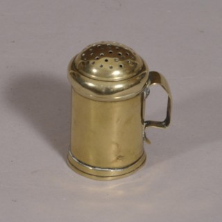 Antique Mid 18th Century Brass Spice Dredger of the Georgian Period