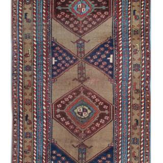Antique Afshar Handmade Wool Persian Rug- 130x290cm
