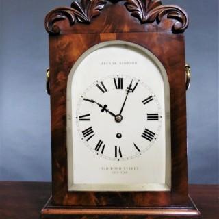 Georgian Mahogany Bracket Clock by Hector Simpson, London