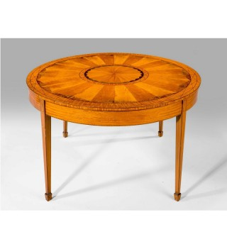 19th Century Satinwood Circular Centre Table