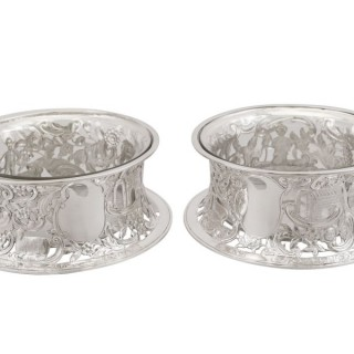 Sterling Silver Potato Dish Rings - Antique Victorian