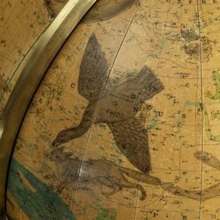 A Pair of 16-inch floor standing globes by Gilman Joslin