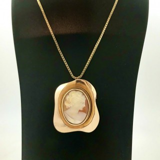 Cameo and Gold Necklace