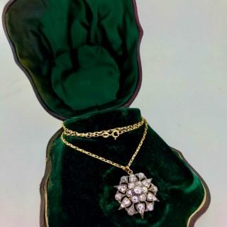Diamond Pendant Brooch