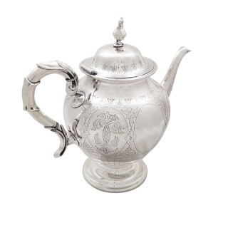 Antique Victorian Sterling Silver Teapot 1874