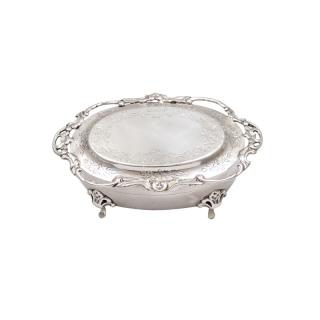 Antique Edwardian Sterling Silver Trinket Box 1907