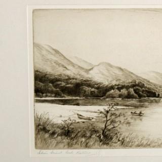 Loch Katrine Etching by Jackson Simpson