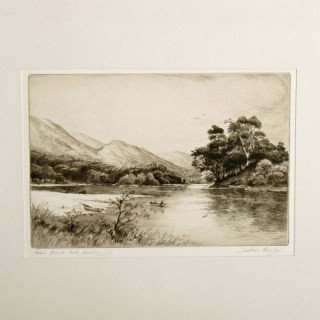 Loch Katrine Etching by Jackson Simpson