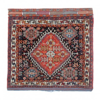 Antique Qashqai Handmade Wool Persian Rug- 56x61cm