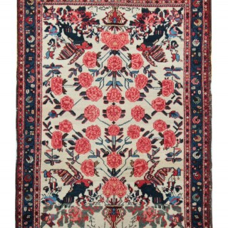 Hand-knotted Persian Kerman Wool Rug- 108x159cm