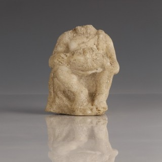 Roman Marble Statue of a Young Hercules Seated