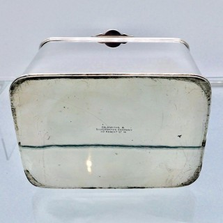 Antique Edwardian Sterling Silver Biscuit Box London 1904 Goldsmiths & Silversmiths Co Ltd