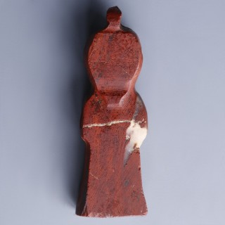 Egyptian Red Jasper Knot of Isis Amulet