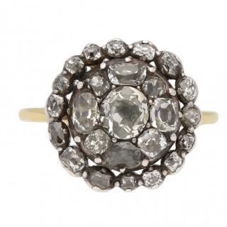 Georgian diamond cluster ring, English, circa 1780.