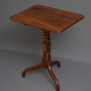 Regency Mahogany Tilt Top Table