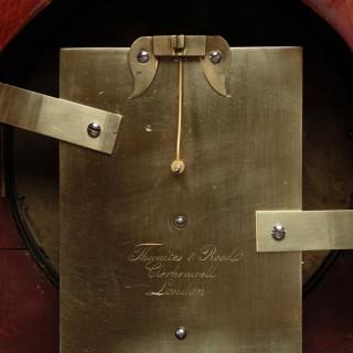 Regency Mahogany Bracket Clock by Thwaites and Reed