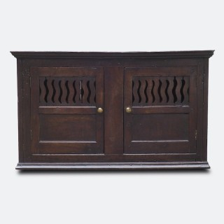 Mid-18th Century Wall-Mounted Century Georgian Food Cupboard