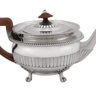 Sterling Silver Teapot - Antique George III (1809)