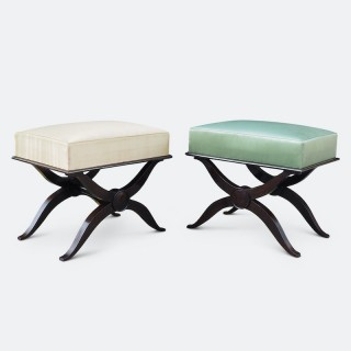 A Fine Pair of Andre Arbus Footstools