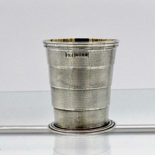 Antique Victorian Sterling Silver Collapsible Beaker London 1864 Robert Hennell