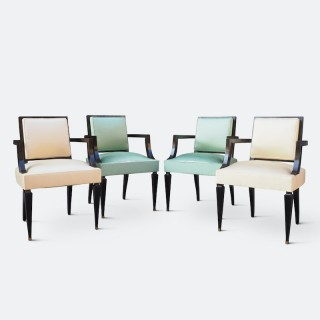 A Fine Set of Four Chairs Attributed to Andre Arbus