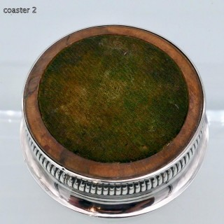 Antique George III Sterling Silver Pair Wine Coasters Sheffield 1802 J T Young & Co