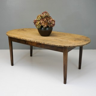 Antique Pine and Chestnut Dining Table