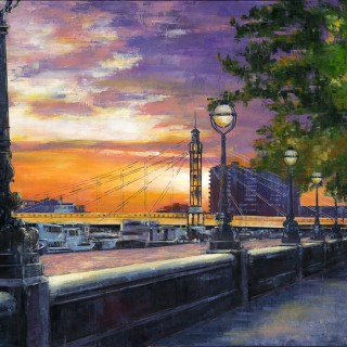 Before Sunset at Albert Bridge